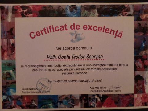 Certificat de Excelenta