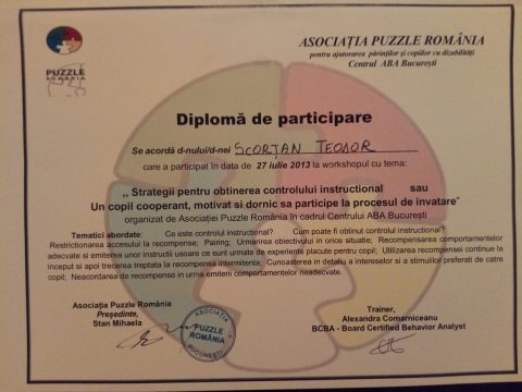 Diploma de participare